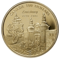 1995 Canada $100 275th Anniversary of the Founding of Louisbourg 14K Gold