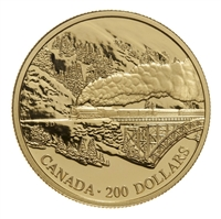 1996 Canada $200 Transcontinental Landscape 22K Gold Coin