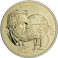 1997 Canada $100 Anniversary of Alexander Graham Bell's Birth 14K Gold