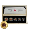 1979-1999 Canada Gold Maple Leaf 5-coin Coloured Set (No Tax)
