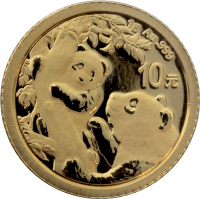 2019 China 10Y One Gram .999 Fine Gold Panda (No Tax)