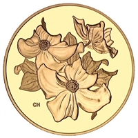 2000 Canada $350 Pacific Dogwood - British Columbia Fine Gold Coin (No Tax)