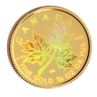 2001 Canada Hologram 1/4oz. Gold Maple Leaf (TAX Exempt)