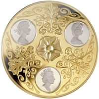2002 Canada $300 14k Triple Cameo Portraits of Queen Elizabeth II Gold