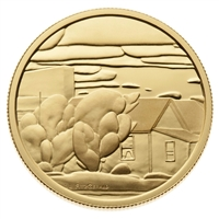 "2003 Canada $200 ""Houses"" - Lionel Lemoine Fitzgerald 22K Gold Coin"