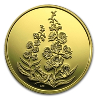2004 Canada $350 The Fireweed - Yukon Territories Pure Gold Coin (No Tax)