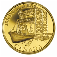 2004 Canada $100 50th Ann. of the Start - St. Lawrence Seaway 14K Gold