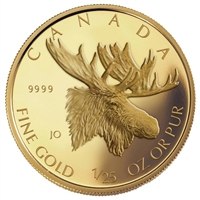 2004 Canada 50-cent Moose 1/25oz. Pure Gold (TAX Exempt) Lightly Scratched Capsule