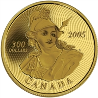 2005 Canada $300 14K 135th Anniversary of the 1870 Shinplaster Gold