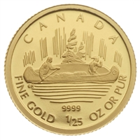 2005 Canada 50-cent Voyageur 1/25oz. Pure Gold Coin (TAX Exempt)