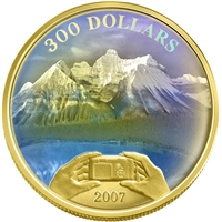 2007 $300 Canadian Achievements Panoramic Picture - Rockies 14K Gold