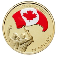 2007 Canada $75 14K Vancouver Olympic - Athlete's Pride Colourized Gold
