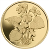 2007 Canada $350 Purple Violet Pure Gold Coin (TAX Exempt)