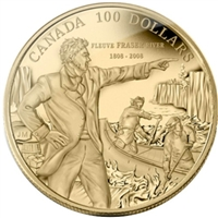 2008 Canada $100 200th Anniversary Descending the Fraser River 14K Gold