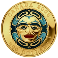 2008 Canada $300 Four Seasons Moon Mask 14K Gold Coin