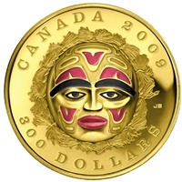 2009 Canada $300 Summer Moon Mask Coin 14K Gold Coin