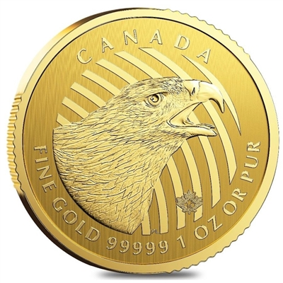 2018 Canada $200 Call of the Wild - Golden Eagle 1oz. Gold (No Tax)