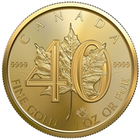 (Pre-Order) 2019 Canada $50 40th Anniversary of the Gold Maple Leaf .999 Fine Gold (No Tax)