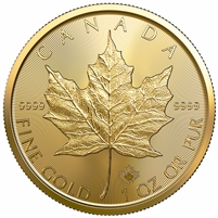 2021 Canada $50 1oz. .9999 Gold Maple Leaf (TAX Exempt) NO CREDIT CARDS or PAYPAL DL-K