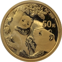 2020 China 50Y 3 gram .999 Fine Gold Panda (No Tax)
