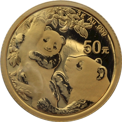 2021 50Y China Panda 3 gram .999 Fine Gold (No Tax)