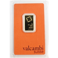 Valcambi Suisse 5g .999 Gold Bar in Original Package (No Tax)