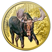 2009 Canada $75 14K Vancouver Olympics - Moose Coloured Gold Coin