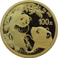 2021 China Panda 100Y 8 Gram .999 Fine Gold (NO Tax)
