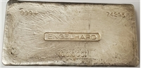 100oz Engelhard Old Poured .999 Fine Silver Bar