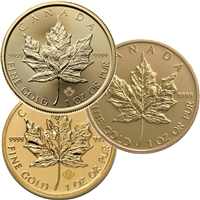 $50 1oz. Gold Maple Leaf (any date .9999 Fine) No Tax -NO Credit cards DL-K