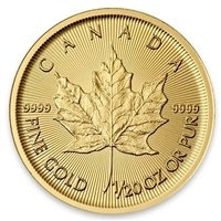 Any date 1/20oz. $1 Gold Maple Leaf (TAX Exempt).