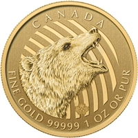 2016 Canada $200 Roaring Grizzly Gold Bullion Coin (TAX Exempt)
