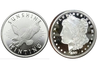 Sunshine Mint 1oz. .999 Silver Round (TAX Exempt) DL-C (Eagle or Morgan)