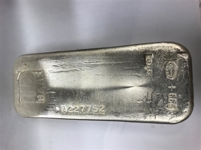 100oz  TD Bank Old Poured .999 Fine Silver Bar (TAX Exempt) No Credit cards