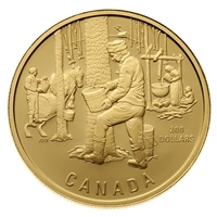 1995 Canada $200 The Sugar Bush 22K Gold Coin