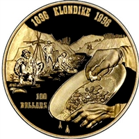 1996 Canada $100 First Major Gold Discovery in the Klondike 14K Gold