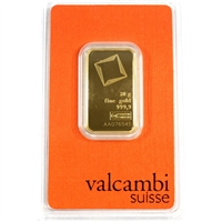 Valcambi Suisse 20g .9999 Gold Bar in Original Package (No Tax)