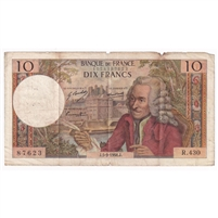 France Note Pick #147c 1968 10 Francs VF-EF (damaged)
