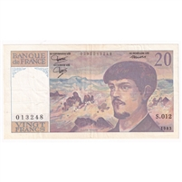 France Note Pick #151a 1983 20 Francs EF