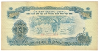 South Viet Nam Note Pick #R5 1968 2 Dong EF