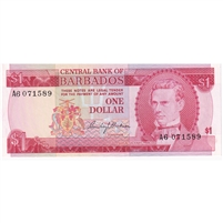 Barbados Note 1973 1 Dollar, UNC