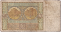 Poland Note 1929 50 Zlotych, VG (holes) (L)