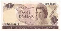 New Zealand Note Pick #163d 1977-81 1 Dollar EF