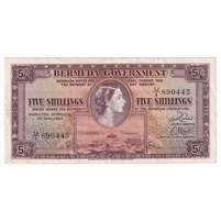 Bermuda Note 1957 5 Shillings, VF