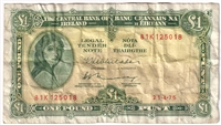 Ireland Note E086 1975 1 Pound VF