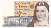 Ireland Note E155 1999 5 Pounds