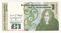 Ireland Note E138 1982-87 1 Pound, AU