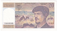 France Note Pick #151a 1985 20 Francs AU