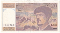 France Note Pick #151i 1997 20 Francs EF-AU