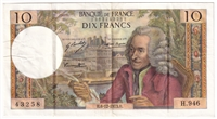 France Note Pick #147d 1973 10 Francs, VF-EF